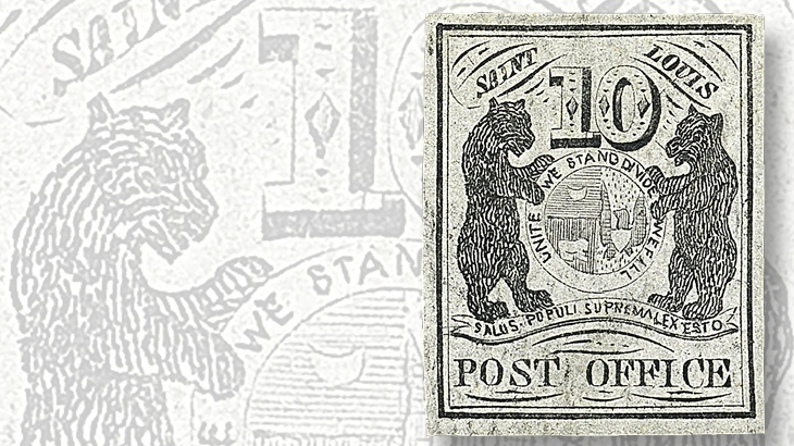 10-cent-st-louis-postmasters-provisional-stamp-gray-lilac