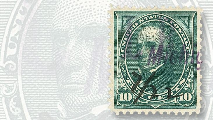 10-cent-webster-overprint-stamp