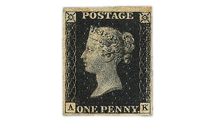 U S  Penny Black centennial: no stamp but many souvenirs