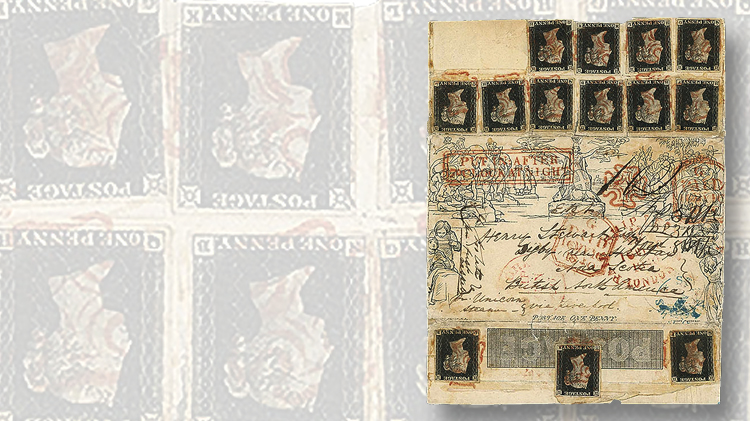 1840-stamped-envelope-13-penny-blacks