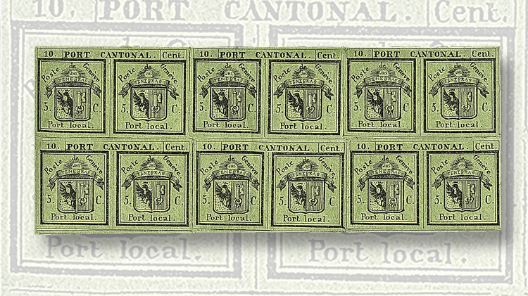 1843-black-on-yellow-green-double-geneva-stamp