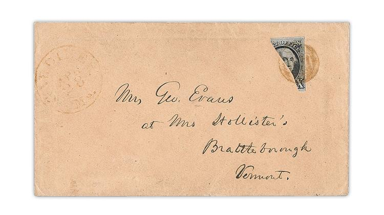 1847-washington-bisect-cover-gardiner-maine-brattleboro-vermont