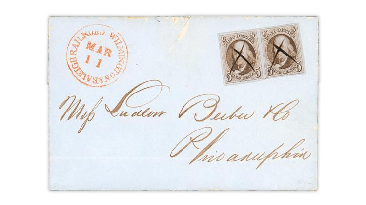 1848-wilmington-raleigh-railroad-cover-charleston-south-carolina
