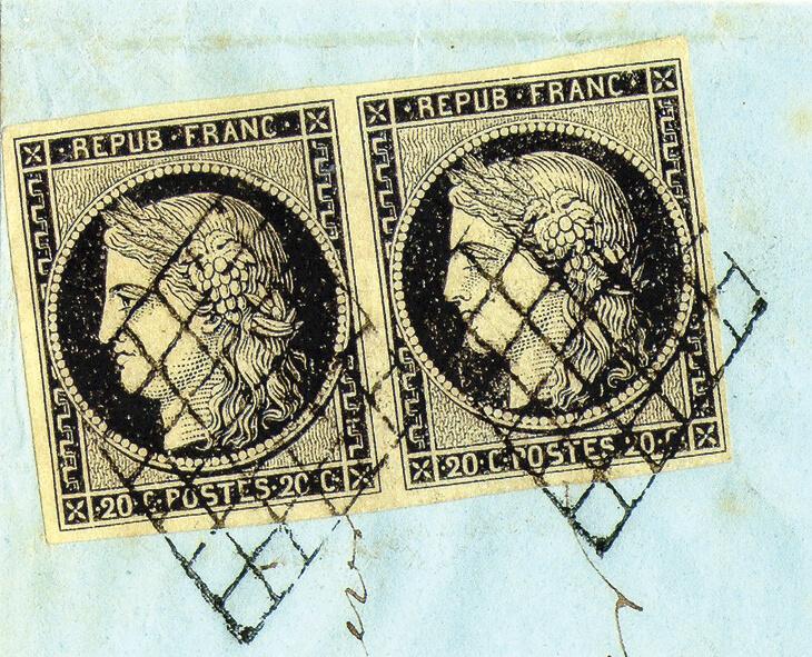 1849-20c-stamp-pair-canceled-black