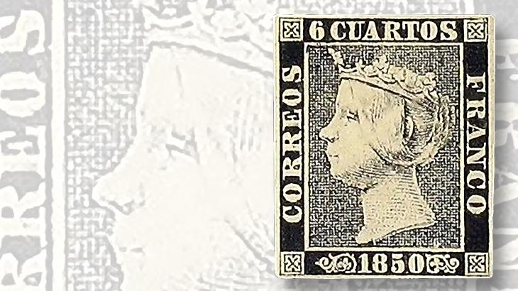 1850-queen-isabella-spanish-stamp
