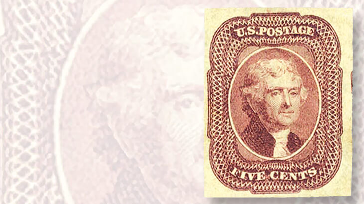 1851-fault-free-imperforate-five-jefferson-stamp