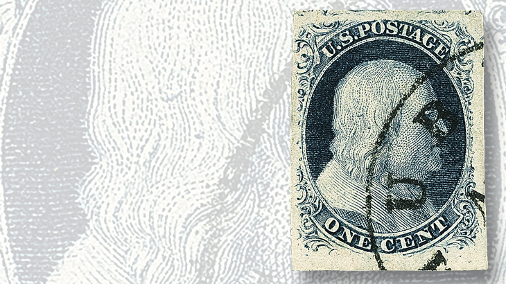 1851-one-cent-blue-franklin-stamp-type-iii