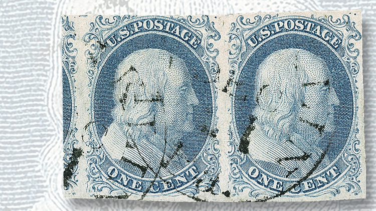 1851-one-cent-blue-franklin-type-ib