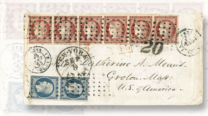 1853-cover-with-1849-one-franc-ceres-stamps