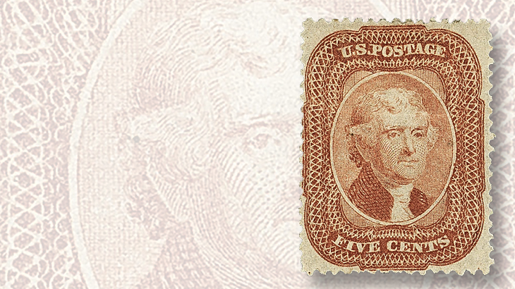 1858-perforated-five-cent-thomas-jefferson-type-i-stamp