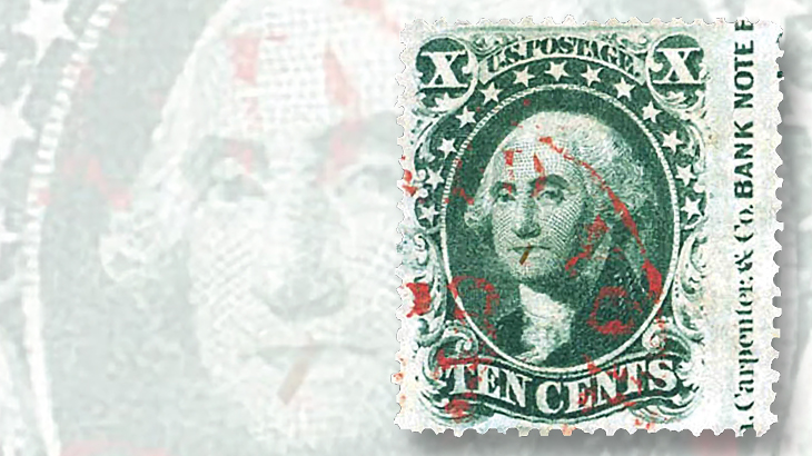 1859-ten-cent-green-washington-type-v-stamp
