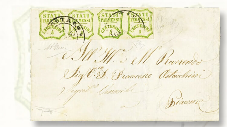 1860-cover-strip-of-four-of-the-5-centesimo-local-provisional-stamps