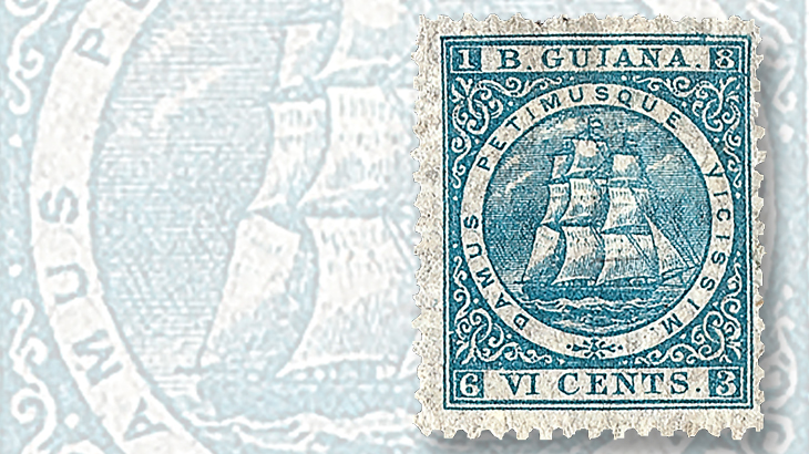 1863-roman-numerals-british-guiana-maste-ship-stamp
