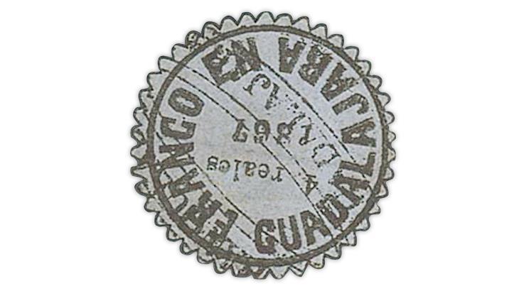 1867-guadalajara-mexico-4-real-provisional-stamp