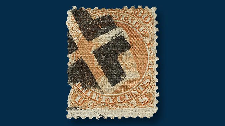 1867-thirty-cent-orange-franklin-stamp