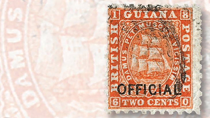 1875-british-guiana-two-cent-ship-type-design-stamp