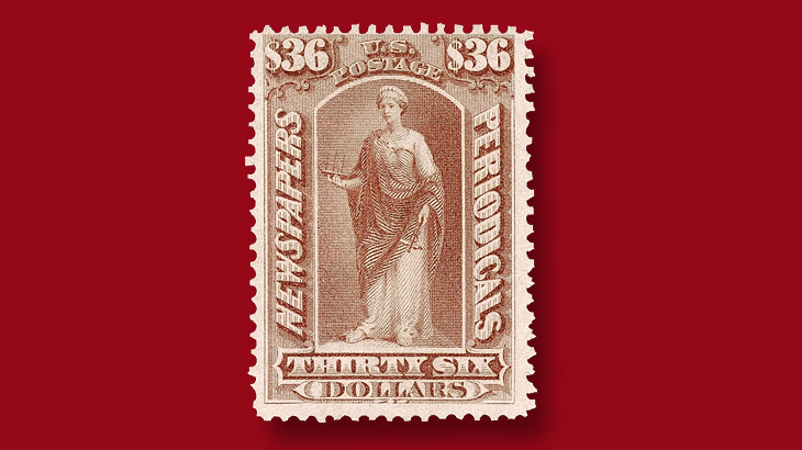 1875-thirty-six-brown-rose-commerce-newspaper-stamp