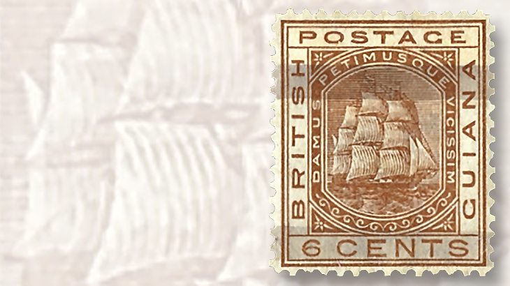 1878-british-guiana-brush-like-pen-lines-stamps