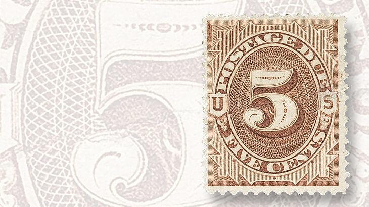 1879-five-cent-postage-due-reprint
