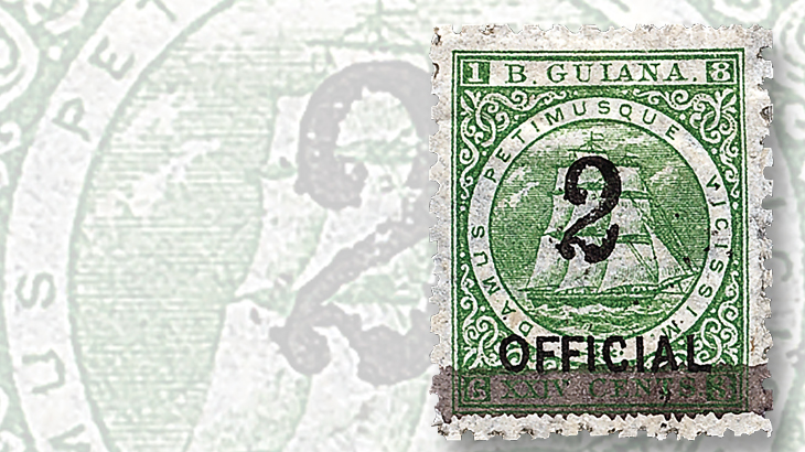 1881-british-guiana-official-stamps
