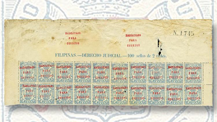 1881-red-overprint-2-real-blue-revenue-stamp