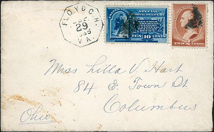 1885-10-cent-blue-messenger-running