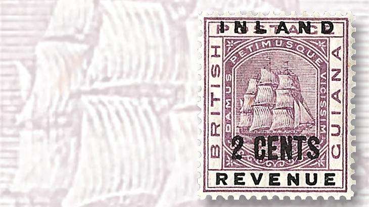 1889-inland-revenue-british-guiana