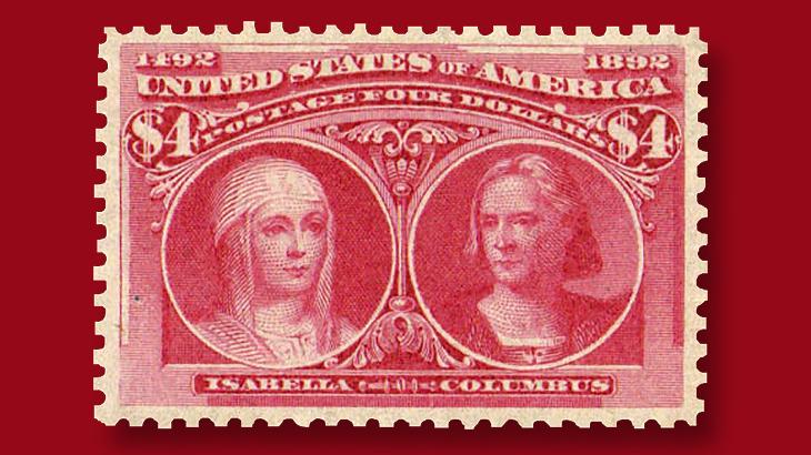 1893-four-dollar-crimson-lake-columbian-commemorative-stamp