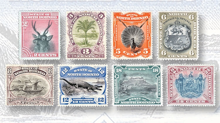 1894-north-borneo-stamps