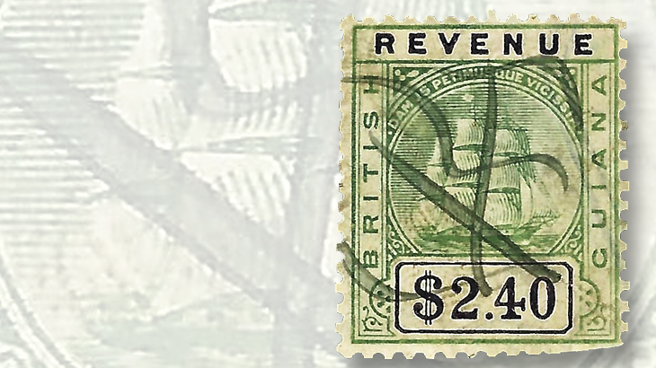 1900-british-guiana-revenue-black-two-forty
