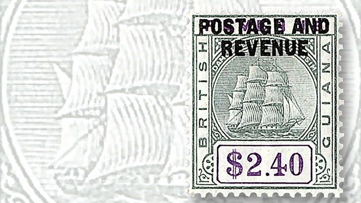 1900s-british-guiana-postage-revenue-black-two-dollar-forty-cent