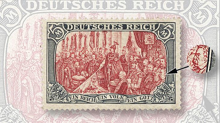 1902-five-mark-stamp-kaiser-wilhelm-ii