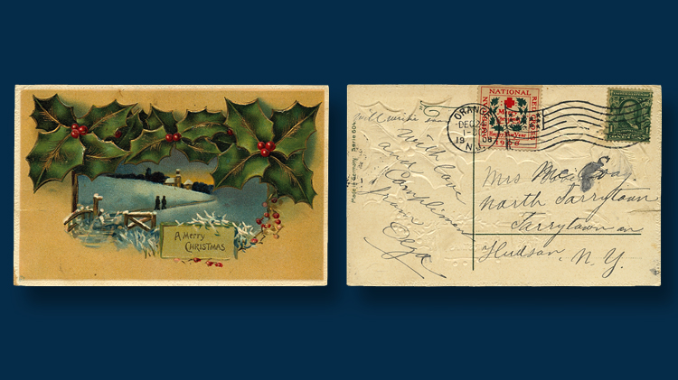 early christmas card in an envelope 1882 linns com