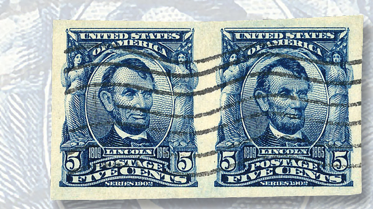 1908-five-cent-blue-abraham-lincoln-stamp