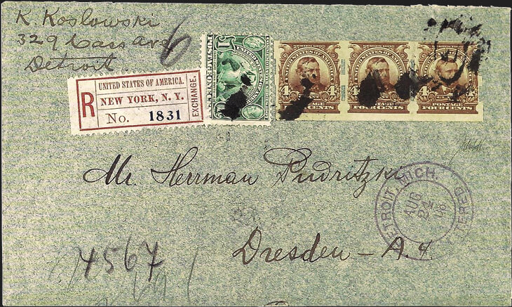 1908-grant-stamp-schermack-perforations-largest-surviving-multiple-cover-detroit-germany
