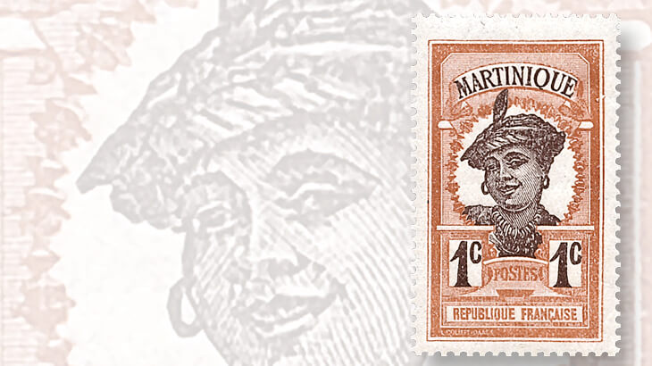 1908-martinique-woman-stamp