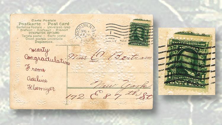 1908-one-cent-franklin-postcard-canceled