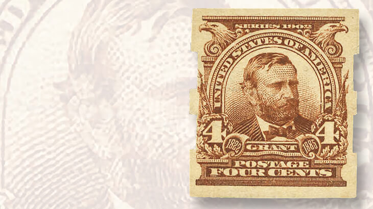 1908-ulysses-grant-imperforate-stamp-schermack-type-three-perforations