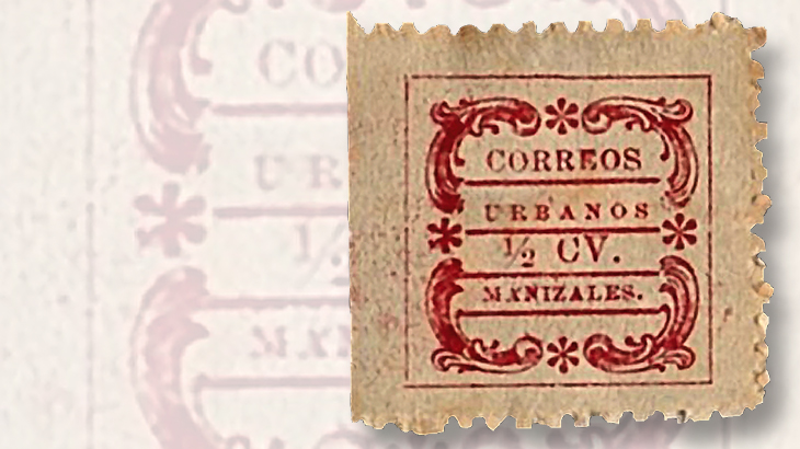 1909-colombia-primitive-looking-stamplike