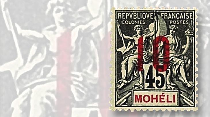 1912-10-centime-on-45c-moheli