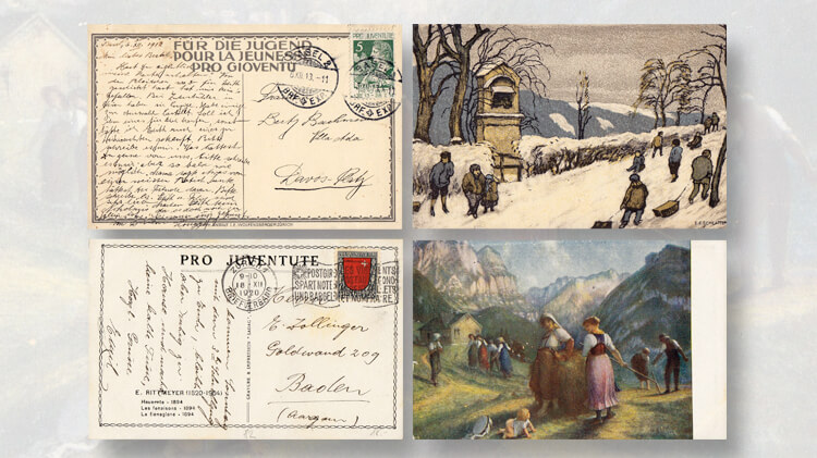 1913-1920-pro-juventute-swiss-postcards