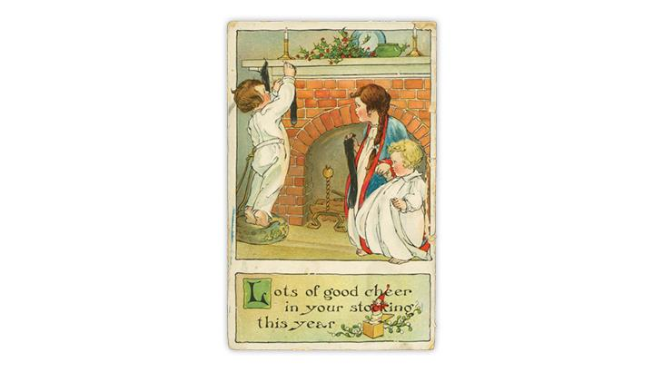 1915-tucks-postcard-children-hanging-stockings