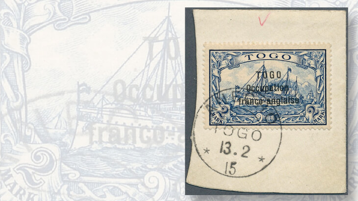 1915-two-mark-togo-stamp