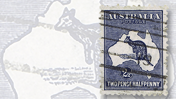 1917-australia-two-half-penny-kangaroo-map-stamp