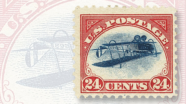 1918-curtiss-jenny-invert-airmail-issue
