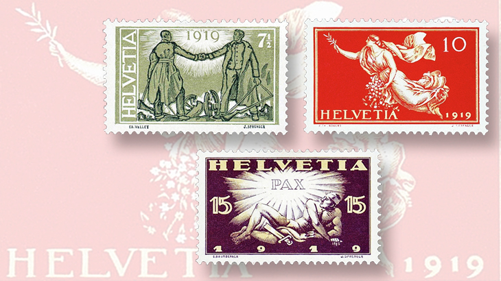 Swiss World War II Peace stamps