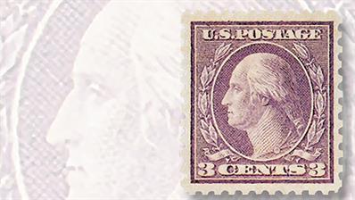 1919-three-violet-george-washington-coil-waste-stamp