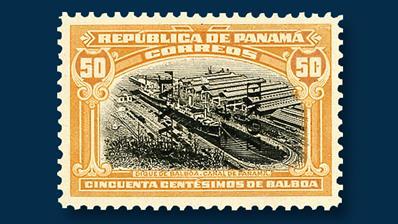 1920-canal-zone-overprinted-50-centesimo-drydock-balboa-stamp