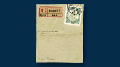 1923-five-thousand-korona-dark-green-yellow-green-madonna-child-invert-error-stamp