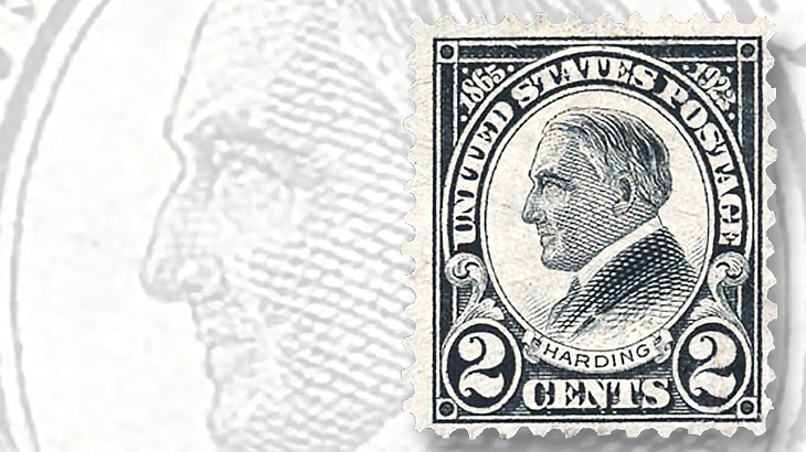 1923-two-cent-black-harding-rotary-press-stamp